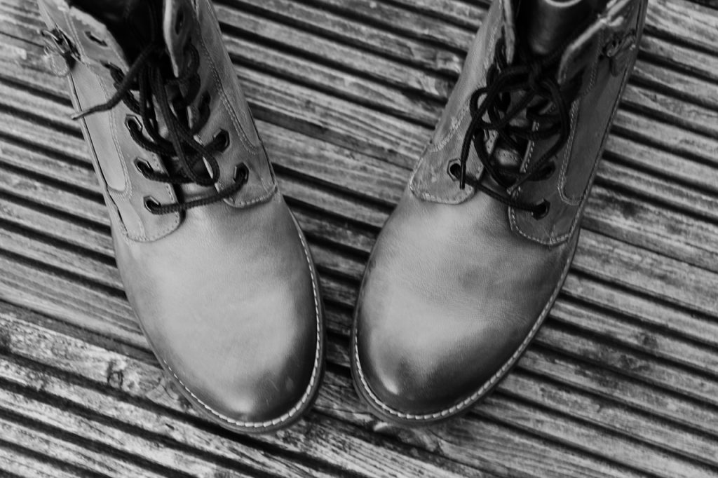 shoes, black and white, winter boots